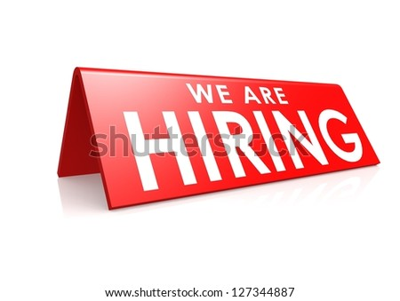 We are hiring tag - stock photo