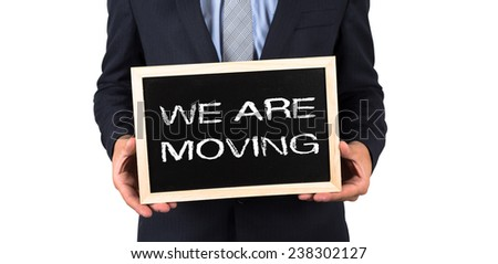 We Are Moving - stock photo