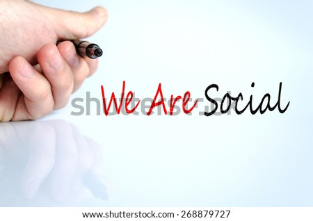 We Are Social Concept Isolated Over White Background - stock photo
