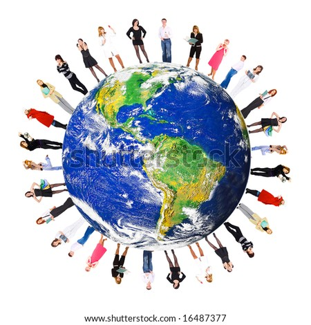 we are the world - stock photo