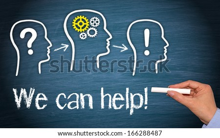 We can help ! - Business, Consulting and Teamwork Concept - stock photo