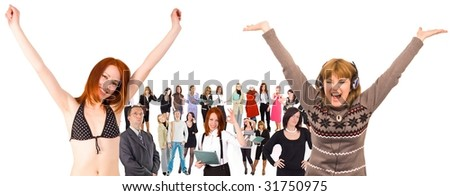 we can rule the world! - stock photo