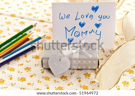 We Love You Mommy - stock photo