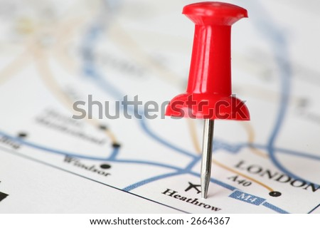 We will landing at Heathrow airport. - stock photo