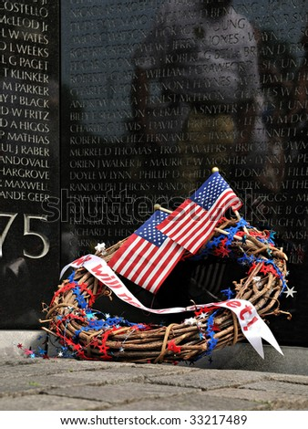 We will never forget! - Vietnam Memorial - stock photo