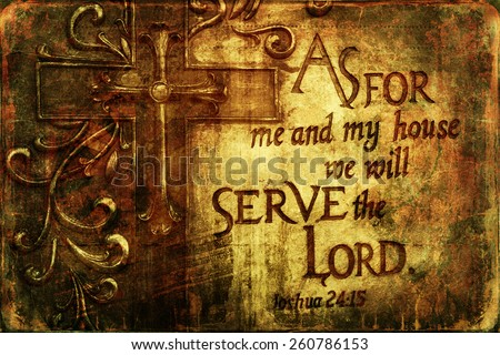 We will serve the Lord Religious  Background  - stock photo