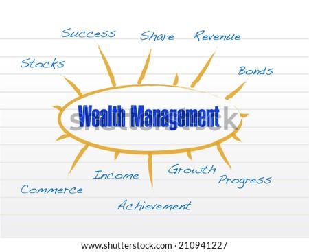 wealth management model illustration design over a white background - stock photo