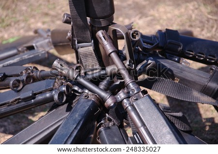 weapons army HK33 - stock photo