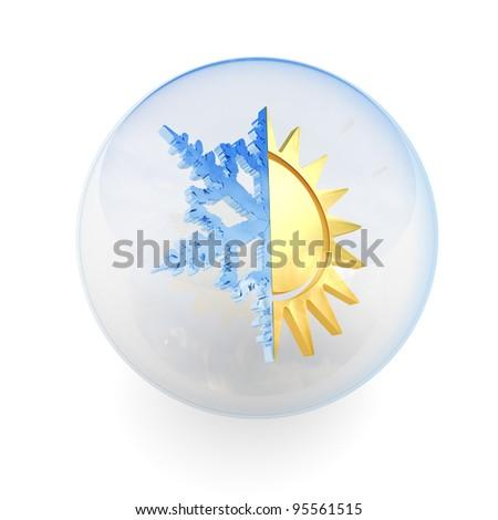 Weather icon - stock photo
