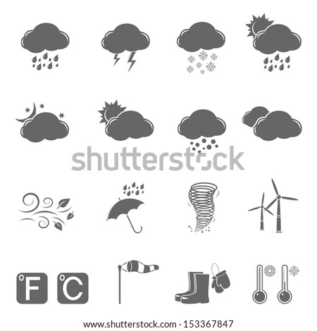Weather icons.  Raster version.  - stock photo