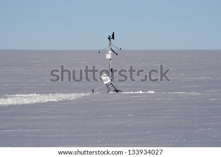 Weather Station in Antarctica - stock photo