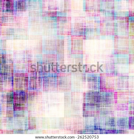 Weathered and distressed grunge background with different color patterns: blue; cyan; purple (violet); pink - stock photo