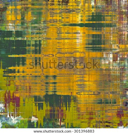 Weathered and distressed grunge background with different color patterns: yellow (beige); brown; purple (violet); green - stock photo