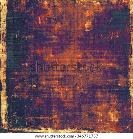 Weathered and distressed grunge background with different color patterns: yellow (beige); purple (violet); red (orange); black - stock photo
