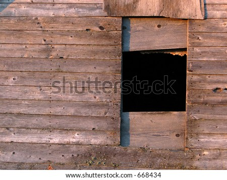 Weathered barn - lots of old wood texture (horizontal) - stock photo