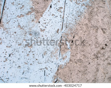 Weathered plaster wall with paint. Grunge concrete texture. Grunge stucco background. Retro texture. Vintage texture. Distress Texture. Scratched wall pattern - stock photo