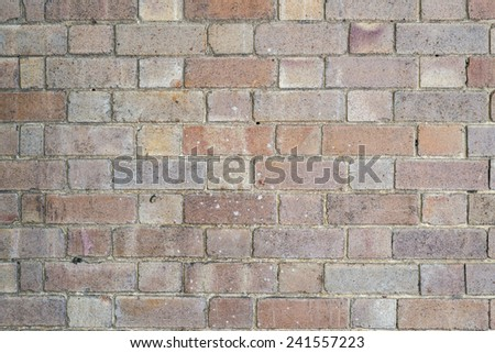 Weathered stained old grunge brick wall background - stock photo