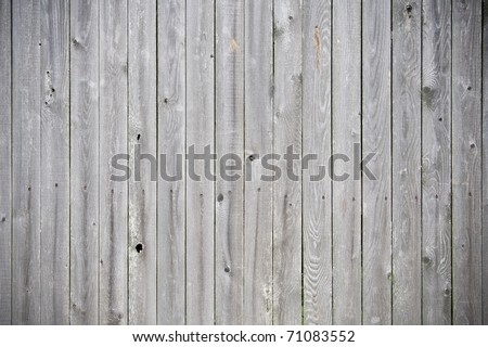 weathered wood plank fence - stock photo