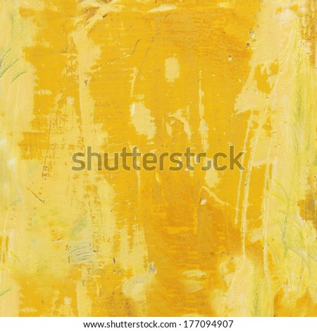 weathered yellow wooden background - stock photo