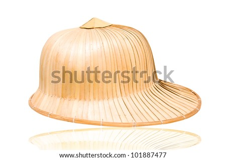 weave hat, brown weaving hat - stock photo