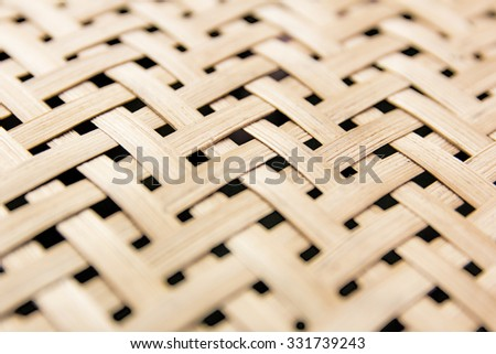 weave texture wicker surface for furniture material.Center focus. - stock photo