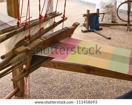 Weaving apparatus - stock photo