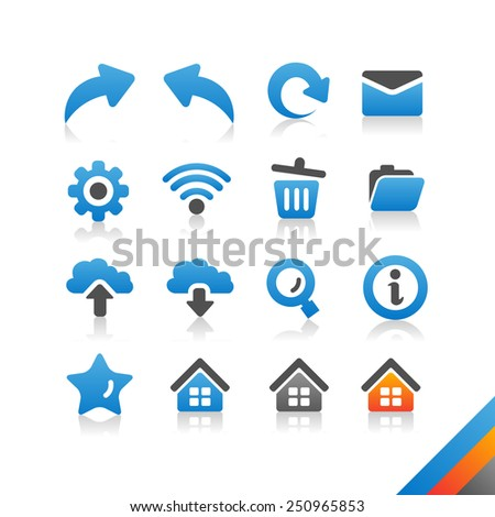 Web and Internet Icon set - Simplicity Series - stock photo