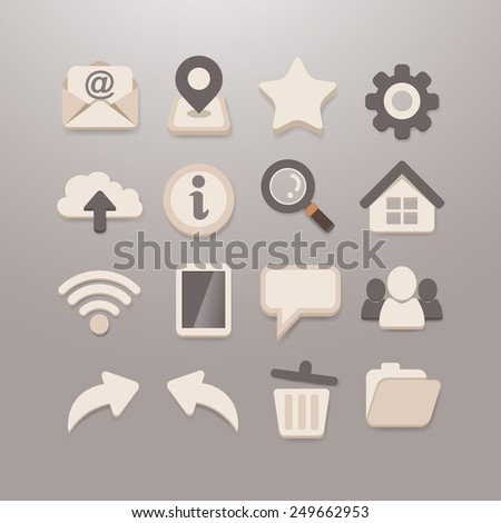 Web and Social media Icon set - Grace_Series - stock photo