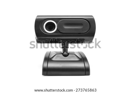 web cam isolated on white - stock photo
