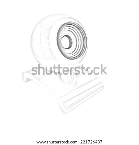 Web-cam on a white background. Pencil drawing - stock photo