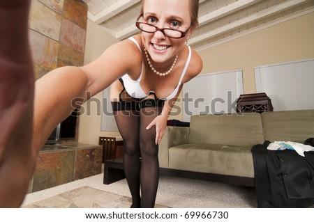 Web Cam Striptease #14 - stock photo