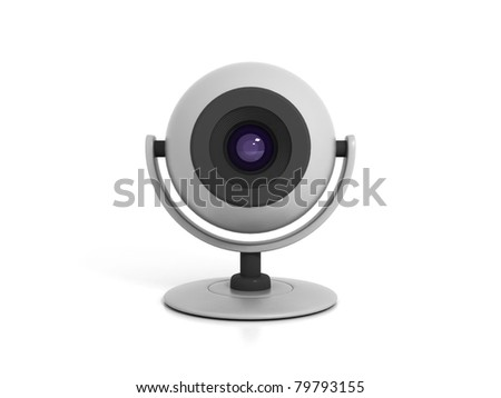 Web Camera Isolated on White Background - stock photo