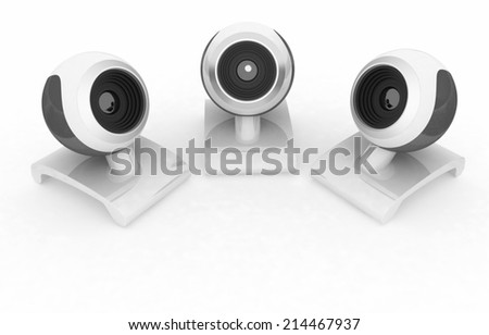 Web-cams on a white background - stock photo