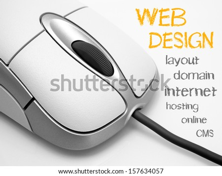 WEB DESIGN - stock photo