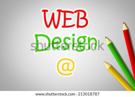 Web design concept text - stock photo