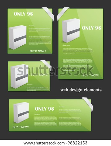Web Design Elements Editable Collection - stock photo