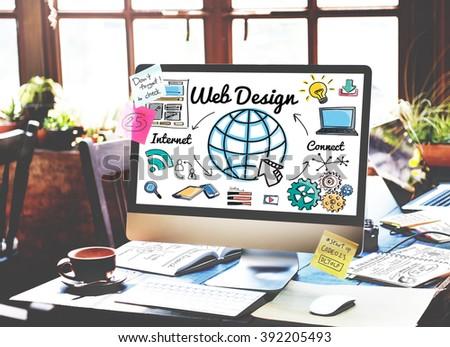 Web Design Programming Homepage Website Concept - stock photo