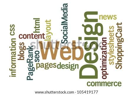 Web Design Word Cloud - stock photo