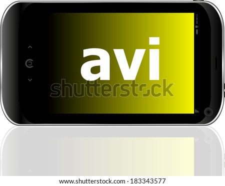 Web development concept: smartphone with word avi on display - stock photo