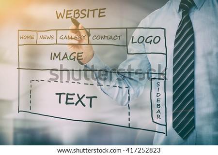 web development design designer seo content - stock image - stock photo