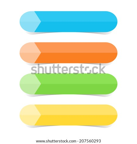 Web graphic color tabs illustration - stock photo