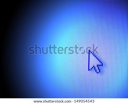 Web Icon on LED screen - stock photo