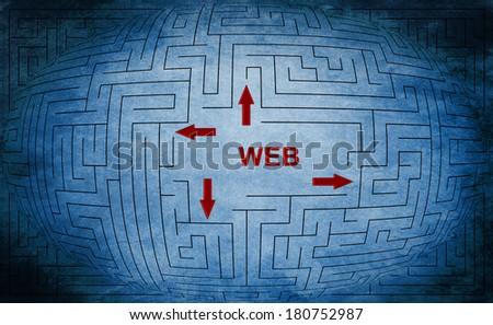 Web maze concept - stock photo