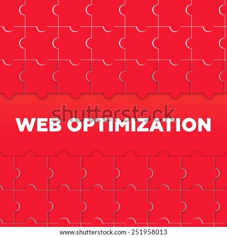 WEB OPTIMIZATION - stock photo