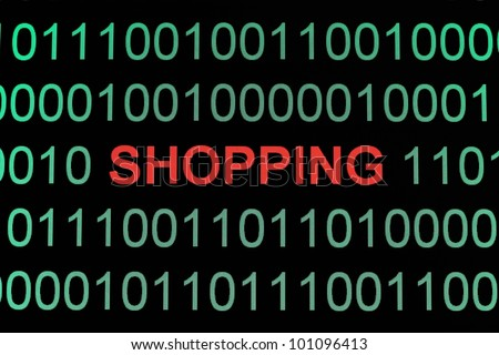 Web shopping - stock photo