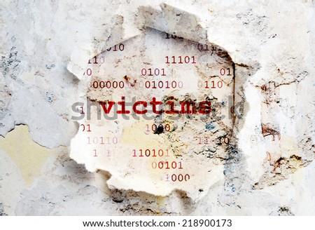 Web victims - stock photo