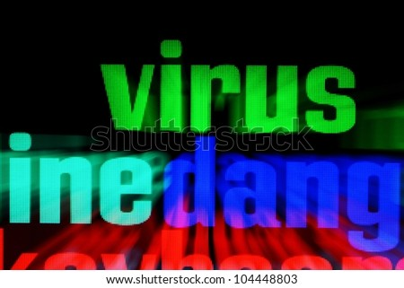 Web virus - stock photo