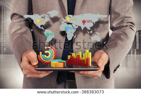 Web world statistics - stock photo
