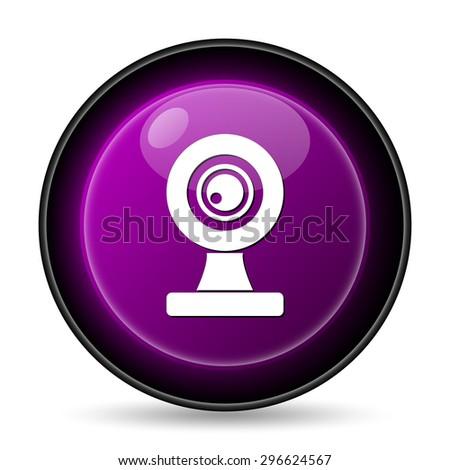Webcam icon. Internet button on white background.  - stock photo
