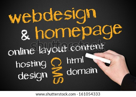 Webdesign and Homepage - stock photo